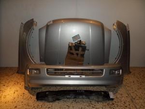 Isuzu d-max 2002-2007 μετώπη-μούρη εμπρός κομπλέ ασημί