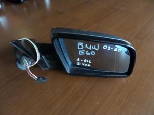 BMW Series 5 E60/E61 2003-2010 ηλεκτρικός καθρέπτης δεξιός ασημί σκούρο (5 καλώδια-1 φίσα)