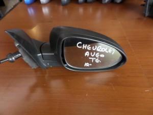 Chevrolet aveo 2012 μηχανικός καθρέπτης δεξιός άβαφος