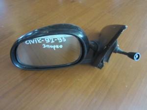 Honda civic 1992-1996 3θυρο καθρέπτης απλός αριστερός μαύρος