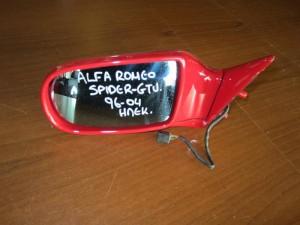 Alfa romeo spider-gtv 1994-2004 ηλεκτρικός καθρέπτης αριστερός κόκκινος