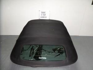 BMW series 1 E82-88 08-13 κουκούλα ουρανού με τζάμι μαύρη με μοτέρ