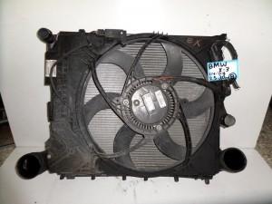 BMW x3 E83 2.5cc-3.0cc 04-07 βενζίνα ψυγείο κομπλέ (νερού-air condition-βεντιλατέρ-intercooler)