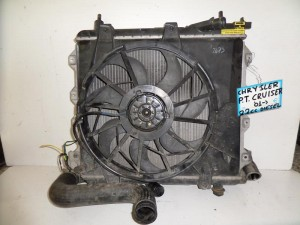 Chrysler PT cruiser 01 2.2cc diesel ψυγείο κομπλέ (νερού-aircondition-βεντιλατέρ-intercooler)
