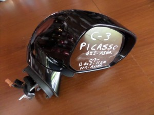 Citroen C3 picasso 09 ηλεκτρικός ανακλινόμενος καθρέπτης δεξιός μαύρος (11 καλώδια)