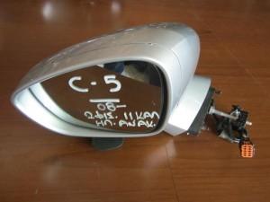 Citroen C5 2008-2017 ηλεκτρικός ανακλινόμενος καθρέπτης αριστερός ασημί (11 καλώδια-2 φίς)