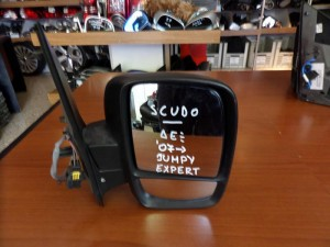 Fiat Scudo,Citroen Jumpy,Peugeot Expert 2012-2016 ηλεκτρικός καθρέπτης δεξιός άβαφος (διπλό κρύσταλλο)