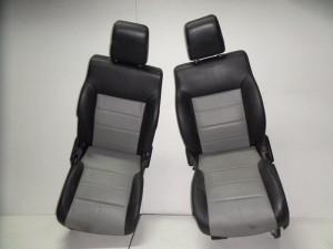 Honda CRV 2002-2007 set καθίσματα εμπρός με airbag,δεξί και αριστερό μαύρο-γκρι (ηλεκτρικά)
