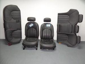 Rover 75 99 σέτ καθίσματα εμπρός-πίσω με airbag γκρί σκούρο (δερμάτινα-4 ταπετσαρίες)