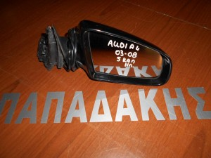 Audi A4 2003-2008 καθρέπτης δεξιός ηλεκτρικός 5 καλώδια μαύρος