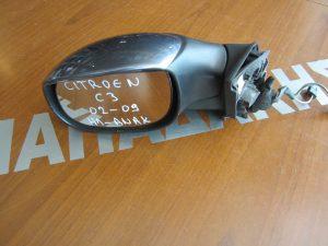Citroen C3 2002-2009 καθρεφτης αριστερος  ηλεκτρικα ανακλινομενος γκρι