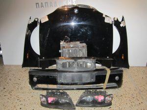 Μετωπη μουρη κομπλε BMW E46 Lift 2003-2005 4θυρο μαυρη (καπο-2 φτερα-προφυλακτηρας-μετωπη-ψυγεια- βενζινα-2 φαναρια με φλας)