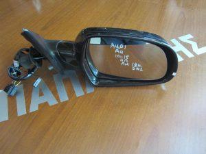 Audi A4 2010-2015 καθρέπτης δεξιός ηλεκτρικά ανακλινόμενος 12 καλώδια 2 φις μαύρος
