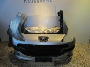 Peugeot 1007 2004-2009 μετώπη-μούρη κομπλέ ασημί