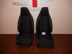 Mercedes A Class w176 2012-2018 και Mercedes GLA x156 2014-2018 καθίσματα εμπρός ζεύγος μαύρα